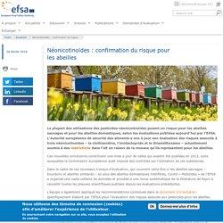 EFSA 28/02/18 Néonicotinoïdes : confirmation du risque pour les abeilles