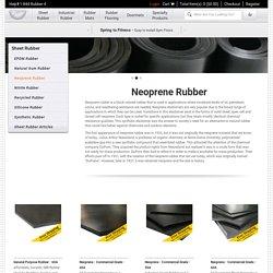 Neoprene Rubber Sheets - Rubber-Cal Inc.