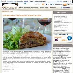 Recette Limousin : Pâté de pommes de terre à la viande