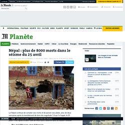 Népal : plus de 8000 morts dans le séisme du 25 avril