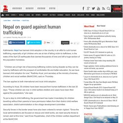 Nepal on guard against human trafficking