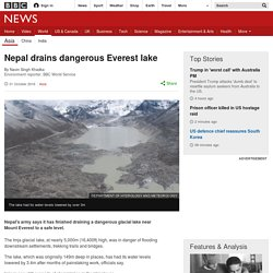 Nepal drains dangerous Everest lake