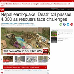 Nepal earthquake: Death toll climbs above 4,600