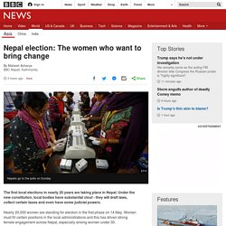 Nepal election: The women who want to bring change