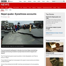 Nepal quake: Eyewitness accounts - BBC News