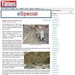 Nepal's last car carrier dies