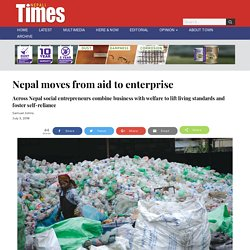 Nepal moves from aid to enterprise