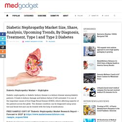 Diabetic Nephropathy Market Size, Share, Analysis, Upcoming Trends, By Diagnosis, Treatment, Type 1 and Type 2 Diabetes