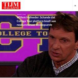 Willem Holleeder: Schande dat College Tour platform biedt aan nepkunstenaar Roosegaarde