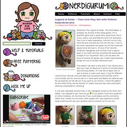 Free Amigurumi Crochet Patterns with love for the Nerdy » » Legend of Zelda – Toon Link Play Set with Pattern