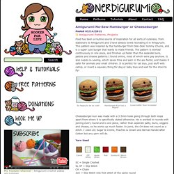 Amigurumi No-Sew Hamburger or Cheeseburger