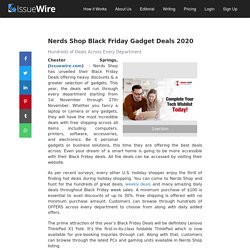 Nerds Shop Black Friday Gadget Deals 2020