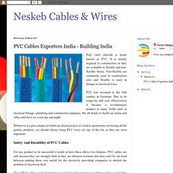 Neskeb Cables & Wires: PVC Cables Exporters India - Building India