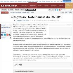Nespresso : forte hausse du CA 2011