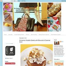 Nutella Gelato with Biscuits & Caramel Corn