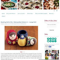 Nesting Dolls CAL: Matryoshka Pattern 1 – Large Doll