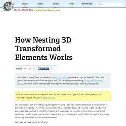 How Nesting 3D Transformed Elements Works