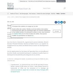 Nestlé en France, engagé en faveur du développement durable