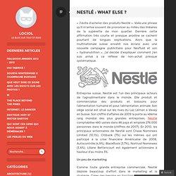 Nestlé : What Else ?