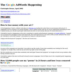 net art: passe adwords