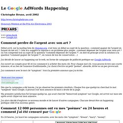 net art : adwords happening