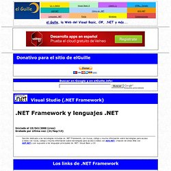 .NET Framework y lenguajes .NET