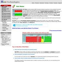Net Meter - LAN Net Meter, WAN Net Meter, Broadband Meter, Broadband Usage Meter