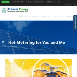 Net Metering for You and Me