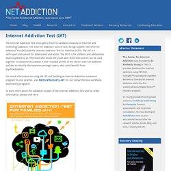 Internet Addiction Test (IAT) - NetAddiction
