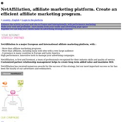 NetAffiliation, plateforme d'affiliation. Créez un programme d'affiliation performant