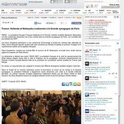 France: Hollande et Netanyahu ovationnés à la Grande synagogue de Paris