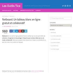 Netboard. Un tableau blanc en ligne gratuit et collaboratif