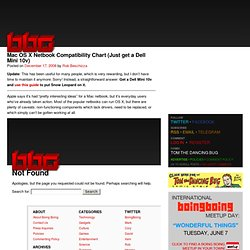 Mac OS X Netbook Compatibility Chart (Just get a Dell Mini 10v) | Boing Boing Gadgets