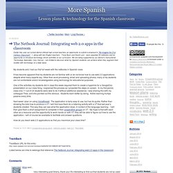 More Spanish: The Netbook Journal: Integrating web 2.0 apps in the classroom