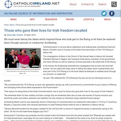Those who gave their lives for Irish freedom recalled - Catholicireland.netCatholicireland.net