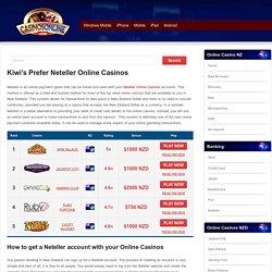 Neteller Online Casinos NZ