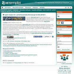 Cyber-emploi.net : portail emploi de référence par la Ville de Paris