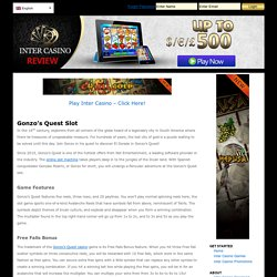 NetEnt's Gonzo's Quest Slot Review