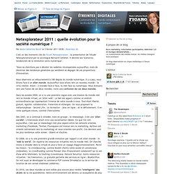Netexplorateur 2011 : quelle évolution pour la société numérique ?