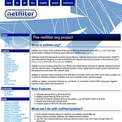 netfilter/iptables project homepage - The netfilter.org project