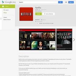 Netflix - Android Apps on Google Play