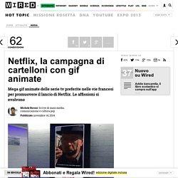 Netflix, la campagna di cartelloni con gif animate