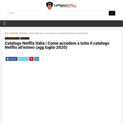 Netflix Italia e Catalogo Mondiale
