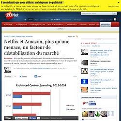 Netflix et Amazon, plus qu'une menace, un facteur de déstabilisation du marché