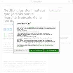 Netflix plus dominateur que jamais sur le marché français de la SVOD