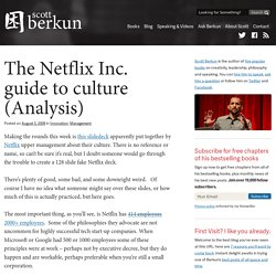 The Netflix Inc. guide to culture (Analysis)