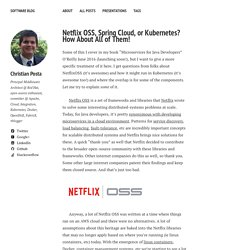 Netflix OSS, Spring Cloud, or Kubernetes? How About All of Them! – Software Blog