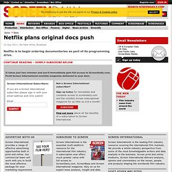 Netflix plans original docs push