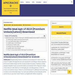 Netflix Mod Apk v7.62.0 (Premium Unlock/Latest) Download