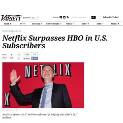 Netflix Surpasses HBO in U.S. Subscribers